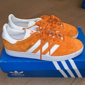 Adidas Gazelle Suede orange/white